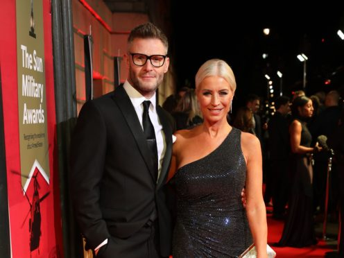 Eddie Boxshall and Denise van Outen (David Parry/PA)