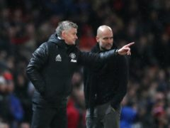 Ole Gunnar Solskjaer, left, takes on Pep Guardiola's Manchester City on Wednesday (Nick Potts/PA)