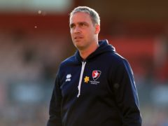 Cheltenham manager Michael Duff saw his side edge out Mansfield (Mike Egerton/PA).