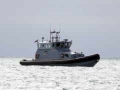 Border Force officers were active in the English Channel on Monday after at least 160 migrants crossed to the UK over the weekend (Steve Parsons/PA)