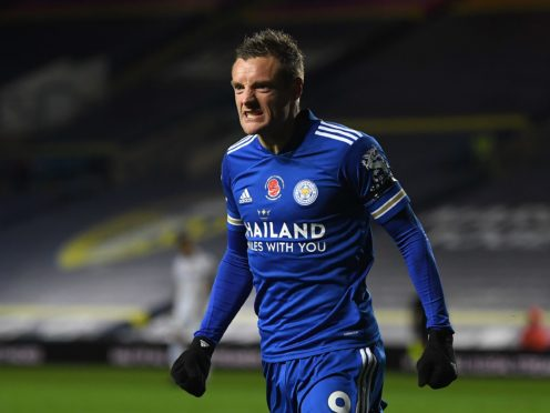 """Jamie Vardy is progressing well and """"on schedule"""" following his hernia operation, according to Leicester boss Brendan Rodgers (Michael Regan/PA)"""
