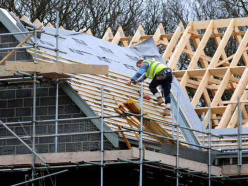 The number of new-build homes registered to be constructed across the UK fell by 23% annually in 2020 to reach an eight-year low, according to industry figures (Rui Vieira/PA)