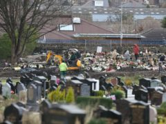 Workers at Scholemoor Cemetery and Crematorium, in Bradford, West Yorkshire (Danny Lawson/PA)