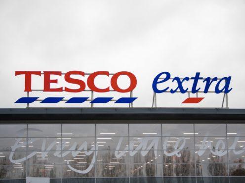 Tesco has hailed a surge in festive sales (Joe Giddens/PA)