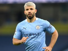 Manchester City striker Sergio Aguero is not available to face Aston Villa (Michael Regan/PA)