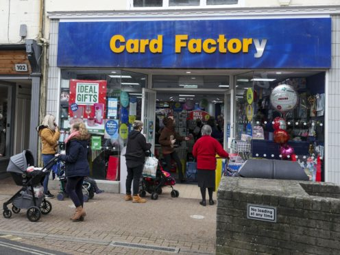 Card Factory has been given a one-month extension to negotiate its debts (Steve Parsons/PA)