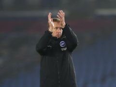 Graham Potter was delighted with Brighton's fightback against Wolves (Naomi Baker/PA)
