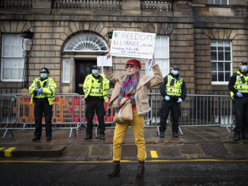 A similar protest took place last month (Jane Barlow/PA)
