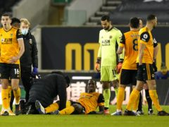 Wolves defender Willy Boly has been out for a month (Tim Keeton/PA)