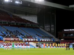 Aston Villa will name a youth team against Liverpool (PA)