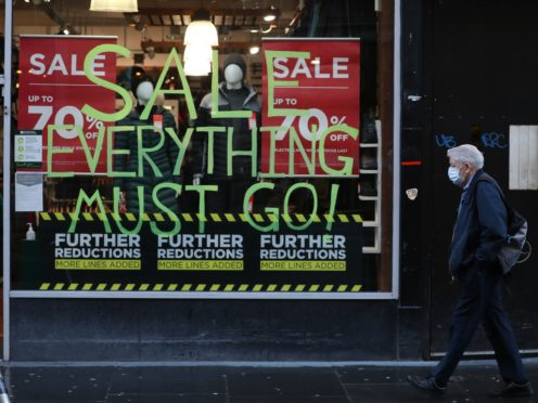 The figures show that one in seven shops in Scotland now lies empty (Andrew Milligan/PA)