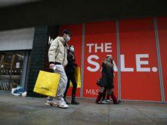 Footfall slid 23.2% in the week to January 2 (Martin Rickett/PA)