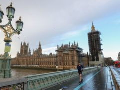 A quiet Westminster bridge by the Houses of Parliament in London (Andrew Matthews/PA)