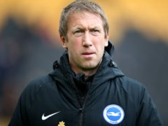 Graham Potter's Brighton have not won in the Premier League since November 21 (Nick Potts/PA)