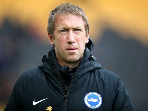 Brighton boss Graham Potter is preparing to face a Tottenham team lacking injured captain Harry Kane (Nick Potts/PA)