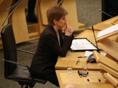 The First Minister said she agreed with the 'sentiments of the question' (Andrew Milligan/PA)