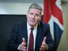 Labour leader Sir Keir Starmer delivers his televised response to Boris Johnson's statement (Stefan Rousseau/PA)