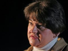 First Minister Arlene Foster speaking at a media briefing on coronavirus (Liam McBurney/PA)