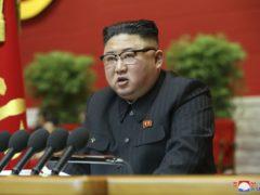 North Korean leader Kim Jong Un attends a ruling party congress in Pyongyang, North Korea (Korean Central News Agency/Korea News Service via AP)