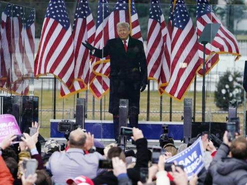 President Donald Trump speaks at a rally (Jacquelyn Martin/AP)