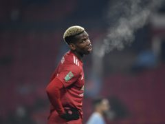 Paul Pogba was frustrated by Manchester United's Carabao Cup loss (Peter Powell/PA)