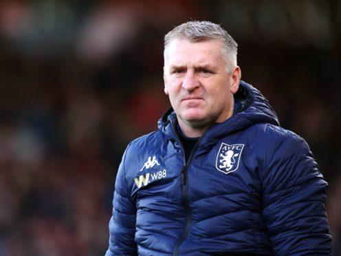 Aston Villa manager Dean Smith says the coronavirus outbreak at the club spread quickly (Mark Kerton/PA)