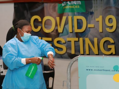 A coronavirus testing station in Cape Town, South Africa (Nardus Engelbrecht/AP)