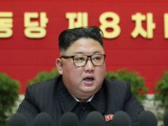 In this photo provided by the North Korean government, North Korean leader Kim Jong Un speaks at the ruling party congress in Pyongyang, North Korea (Korean Central News Agency/Korea News Service via AP)