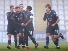 Swansea celebrate Wayne Routledge's opener (Bradley Collyer/PA)