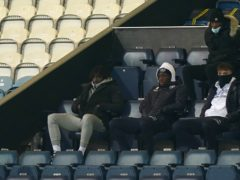Crystal Palace's Eberechi Eze, left, watched his old QPR team-mates on Saturday (Tess Derry/PA)