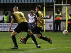 Alfie Devine became Tottenham's youngest ever goalscorer against Marine on Sunday (Martin Rickett/PA)