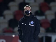 Graham Potter's Brighton side have Premier League away trips to Manchester City and Leeds this week after 120 minutes of FA Cup football (Nick Potts/PA)