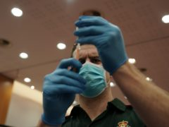 Around half of healthcare workers have been vaccinated so far (Owen Humphreys/PA)