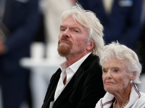 Sir Richard Branson with his mother Eve (Peter Nicholls/PA)