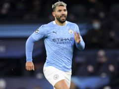 Pep Guardiola hopes it is not long before Sergio Aguero is back scoring goals again (Peter Powell/PA)