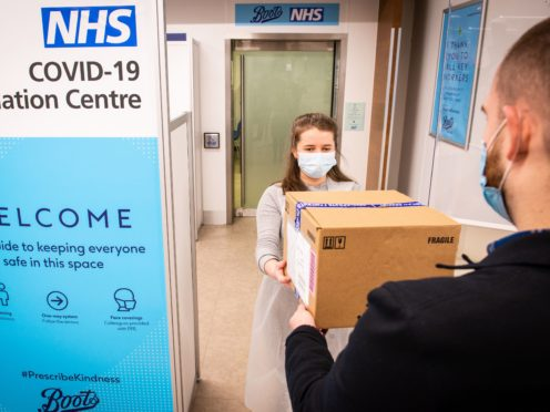 The NHS Covid-19 vaccination centre at Boots in Halifax (Will Johnston/Boots)