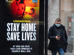 Friday's coronavirus TV advert will mark a shift in tone, the Government said (Dominic Lipinski/PA)