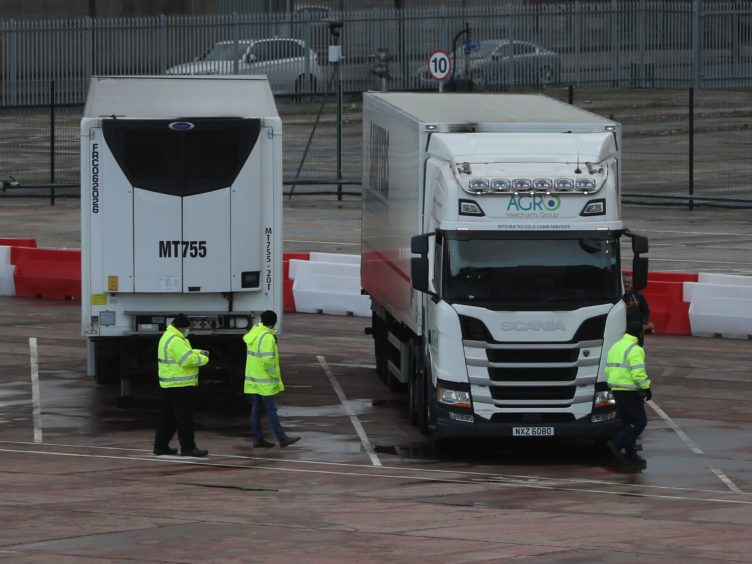 It is quicker to send goods between Northern Ireland and Spain than from the rest of the UK, hauliers said (Brian Lawless/PA)