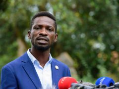 The National Unity platform presidential candidate Bobi Wine (AP)