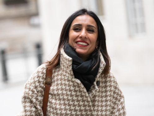Anita Rani leaves BBC Broadcasting House in central London after her first show as a presenter on BBC Radio 4's Woman's Hour (Aaron Chown/PA)