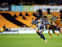 Matheus Pereira scored two penalties for West Brom at Molineux (Carl Recine/PA)