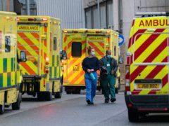 Medical personnel outside the Royal London Hospital on January 20 2021 (Dominic Lipinski/PA)