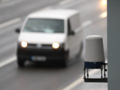 Radar units installed on roadsides monitor motorway traffic and are designed to detect a stopped vehicle in around 20 seconds (Andrew Matthews/PA)