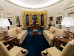 The Oval Office of the White House is newly redecorated for the first day of President Joe Biden's administration in Washington (Alex Brandon/AP)