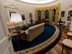 The Oval Office of the White House is newly redecorated for the first day of President Joe Biden's administration (Alex Brandon/AP)