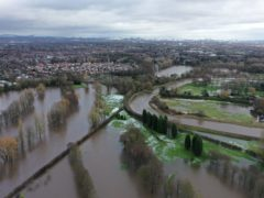 Flood waters at Withington Golf Club in the Didsbury area of Manchester (Richard McCarthy/PA)