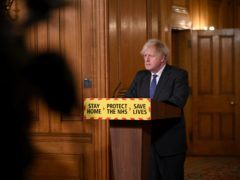 Prime Minister Boris Johnson during a media briefing in Downing Street (Leon Neal/PA)
