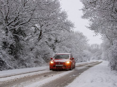 Motorists were urged to take care on the roads (Joe Giddens/PA)