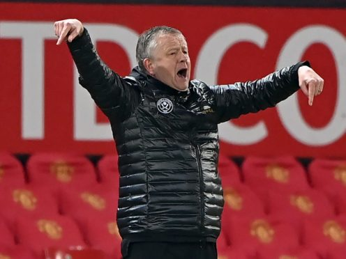 Sheffield United manager Chris Wilder (Laurence Griffiths/PA)