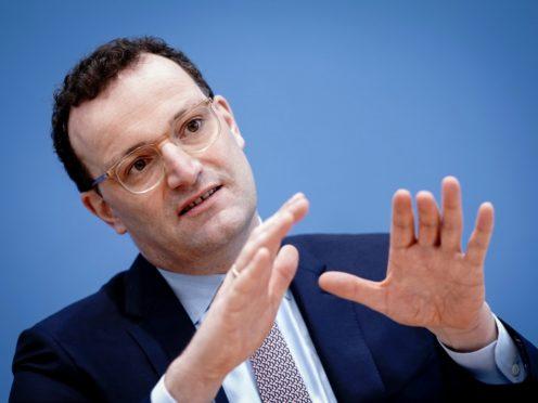 Germany's health minister Jens Spahn (Kay Nietfeld/dpa via AP)
